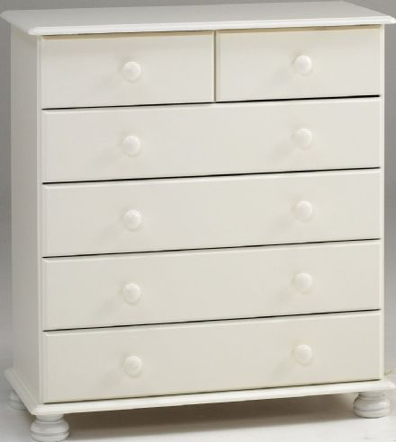 Richmond White 2+4 Chest Of Drawers